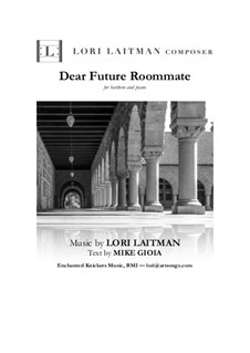 Dear Future Roommate: For baritone and piano (priced for 2 copies) by Lori Laitman