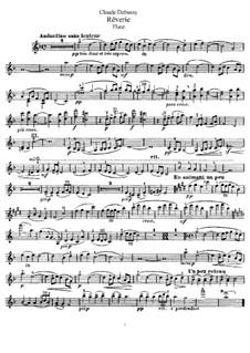 Rêverie, L.68: para flauta e piano - parte flauta by Claude Debussy