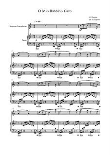 10 Easy Classical Pieces For Soprano Saxophone & Piano Vol.4: O Mio Babbino Caro by Johann Sebastian Bach, Tomaso Albinoni, Joseph Haydn, Wolfgang Amadeus Mozart, Franz Schubert, Jacques Offenbach, Richard Wagner, Giacomo Puccini, folklore