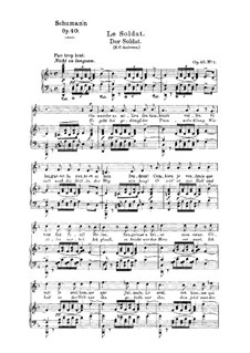 Five Songs, Op.40: No.3 Soldat (Soldier) by Robert Schumann