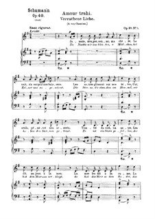 Five Songs, Op.40: No.5 Verrathene Liebe (Love's Secret Lost) by Robert Schumann