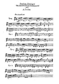 Six Variations on an Original Theme for String Quartet: violino parte II by Ernst von Gemmingen