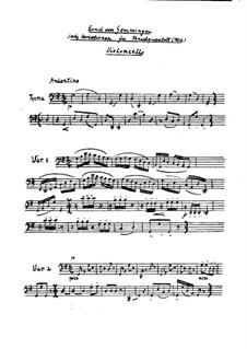 Six Variations on an Original Theme for String Quartet: parte violoncelo by Ernst von Gemmingen