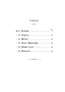 Six Pieces for Piano Four Hands, Op.59: Peças No.1-3 by Louis Théodore Gouvy