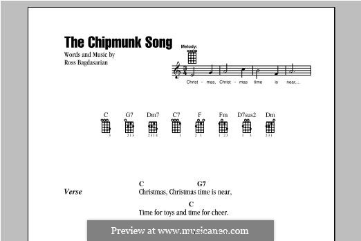 The Chipmunk Song (Alvin and the Chipmunks): para ukulele by Ross Bagdasarian