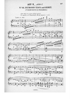 Rienzi, the Last of the Tribunes, WWV 49: Act V. Arrangement for voices and piano by Richard Wagner