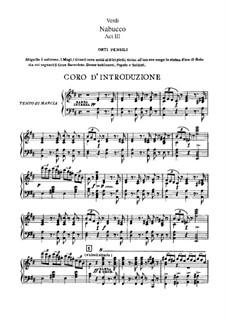 Fragments: ato III, para solista,coral e piano by Giuseppe Verdi