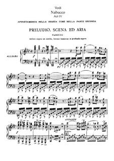 Fragments: acto IV, para solistas,coral e piano by Giuseppe Verdi