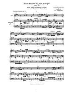 Sonata for Flute and Harpsichord in A Major, HWV 361 Op.1 No.3: Sonata for Flute and Harpsichord in A Major by Georg Friedrich Händel