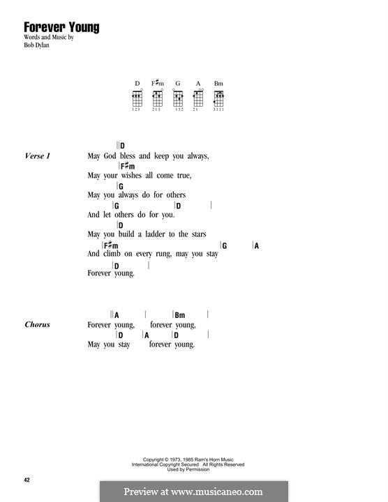 Forever Young I: para ukulele by Bob Dylan