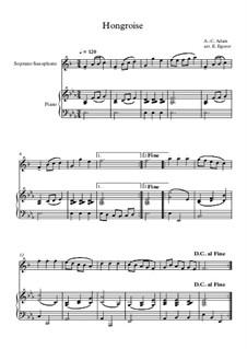 10 Easy Classical Pieces For Soprano Saxophone & Piano Vol.5: Hongroise by Wolfgang Amadeus Mozart, Franz Schubert, Antonín Dvořák, Georges Bizet, Georg Friedrich Händel, Giuseppe Verdi, Pyotr Tchaikovsky, Émile Waldteufel, Adolphe Adam, Sebastián Yradier
