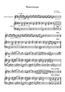 10 Easy Classical Pieces For Tenor Saxophone & Piano Vol.5: Humoresque by Wolfgang Amadeus Mozart, Franz Schubert, Antonín Dvořák, Georges Bizet, Georg Friedrich Händel, Giuseppe Verdi, Pyotr Tchaikovsky, Émile Waldteufel, Adolphe Adam, Sebastián Yradier