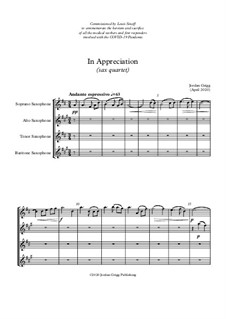 In Appreciation (sax quartet): In Appreciation (sax quartet) by Jordan Grigg