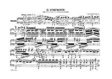 Symphony No.2, Op.36: versão para piano de quatro mãos by Ludwig van Beethoven