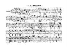 Symphony No.4, Op.60: versão para piano de quatro mãos by Ludwig van Beethoven