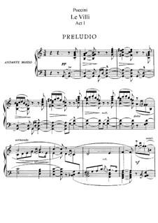 Le Villi (The Willis or The Fairies): ato I, para solistas, coral e piano by Giacomo Puccini