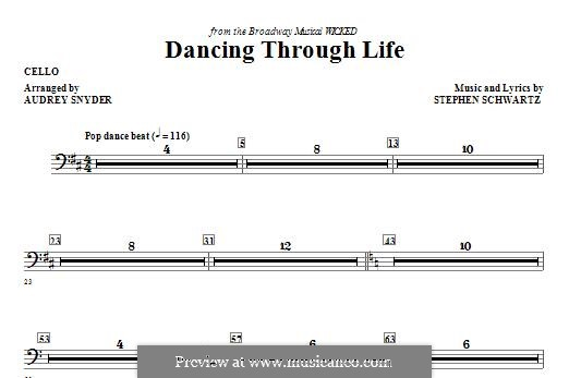 Dancing Through Life (from Wicked): parte violoncelo by Stephen Schwartz