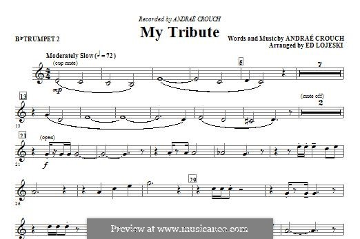 My Tribute: Bb Trumpet 2 part by Andrae Crouch