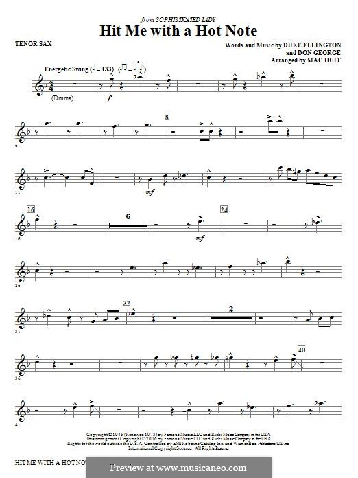 Hit Me with a Hot Note: Tenor Sax part by Don George