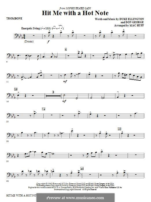 Hit Me with a Hot Note: parte trombone by Don George
