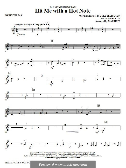 Hit Me with a Hot Note: Baritone Sax part by Don George