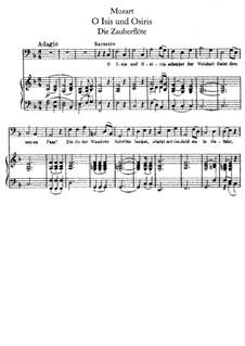 O Isis and Osiris: Para vocais e piano by Wolfgang Amadeus Mozart