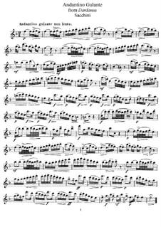 Dardanus: Andantino Galante, for Flute and Piano – Flute Part by Antonio Sacchini