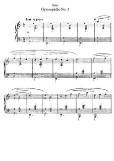 Gymnopédies: No.3 by Erik Satie