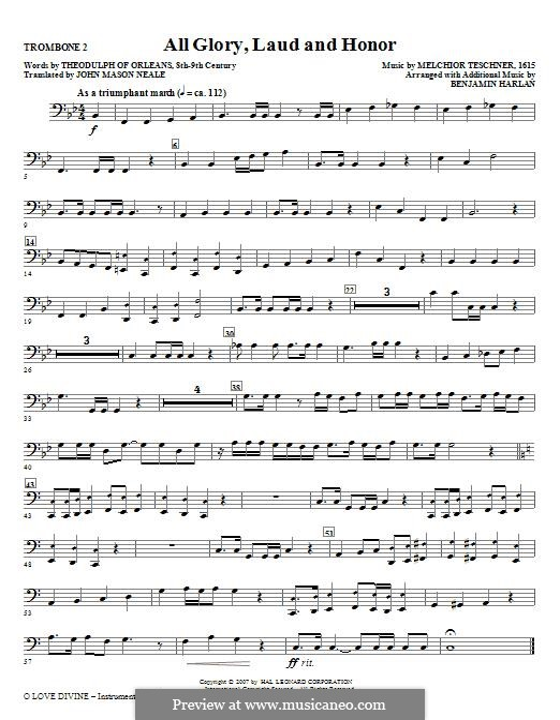 O Love Divine: Trombone 2 part by Melchior Teschner
