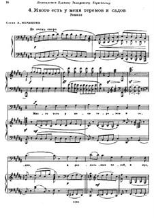 I Have Many Palaces and Gardens: Para vocais e piano by Modest Mussorgsky