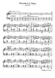 Mazurkas, Op.7: No.5 in C Major by Frédéric Chopin