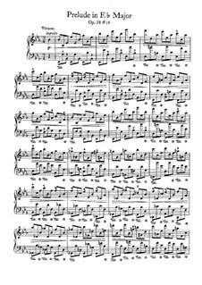 No.19 in E Flat Major: Para Piano by Frédéric Chopin