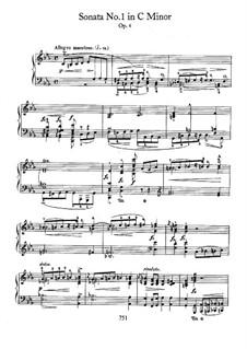 Sonata for Piano No.1 in C Minor, Op.4: para um único musico (Editado por H. Bulow) by Frédéric Chopin