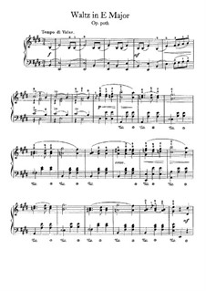 Waltz in E Major, B.44 KK IVa/12: Para Piano by Frédéric Chopin