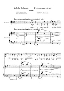 Four Songs, M.A 17: No.3 Italian Song by Maurice Ravel