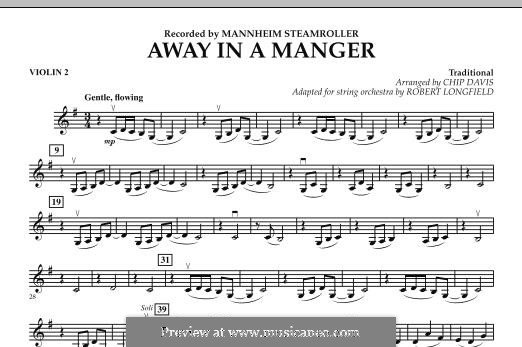 Away in a Manger: Violin 2 part by folklore