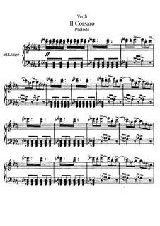 Il corsaro: ato I, para solistas, coral e piano by Giuseppe Verdi