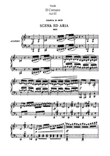 Il corsaro: ato III, para solista,coral e piano by Giuseppe Verdi