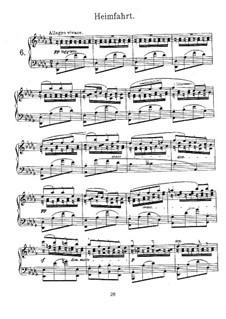Sechs Lieder ohne Worte: No.6 Le retour by Georges Bizet