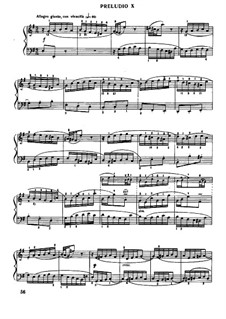 Prelude and Fugue No.10 in E Minor, BWV 879: Para Piano by Johann Sebastian Bach