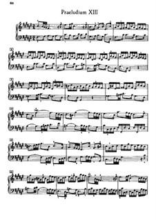 Prelude and Fugue No.13 in F Sharp Major, BWV 882: Para Piano by Johann Sebastian Bach