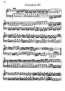 Prelude and Fugue No.15 in G Major, BWV 884: Para Piano by Johann Sebastian Bach