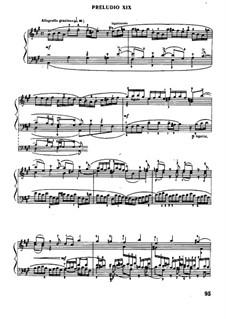 Prelude and Fugue No.19 in A Major, BWV 864: Para Piano by Johann Sebastian Bach