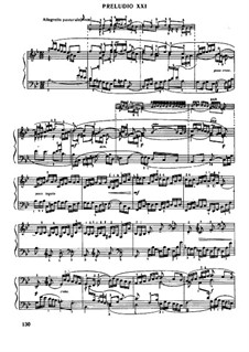 Prelude and Fugue No.21 in B Flat Major, BWV 890: Para Piano by Johann Sebastian Bach