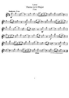 Theme in G Major: para flauta e piano - parte flauta by Theodore Latour