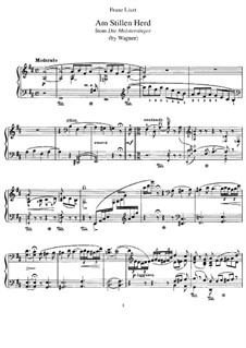 Transcription on Theme from 'The Mastersingers of Nuremberg' by Wagner, S.448: Para Piano by Franz Liszt