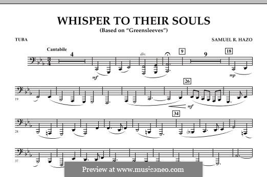 Whisper to Their Souls (based on 'Greensleeves'): Tuba, partes by Samuel R. Hazo