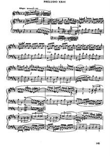 Prelude and Fugue No.23 in B Major, BWV 892: Para Piano by Johann Sebastian Bach