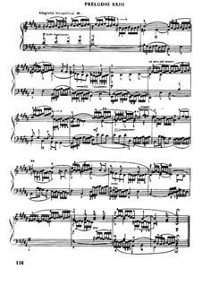 Prelude and Fugue No.23 in B Major, BWV 868: Para Piano by Johann Sebastian Bach
