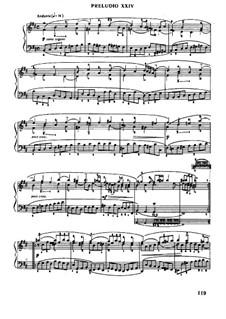 Prelude and Fugue No.24 in B Minor, BWV 869: Para Piano by Johann Sebastian Bach